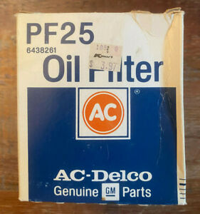 New Vintage Ac Delco Genuine Gm Parts Pf25 Oil Filter Part 6438261 Usa Made