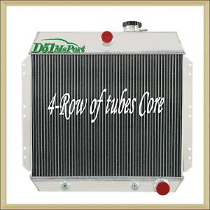 4 Row Aluminu Radiator For Chevy Bel Air Fleetline Styleline Deluxe V8 1949 1954