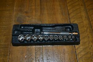 Snap On 1 4 Drive Metric Socket Set And Extension 4 14mm