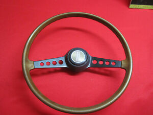 Fiat 124 Spider Steering Wheel Woodgrain 2 Spoke Nice