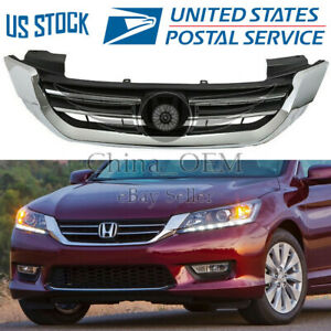 Bumper Radiator Upper Grille Grill For Honda Accord 2013 2014 2015 Assembly
