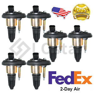 6x New Ignition Coil For 2002 2005 Chevy Trailblazer Gmc Canyon Envoy H3 Uf303