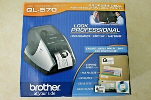 Brand New Brother Ql 570 Professional High Resolution Thermal Label Printer