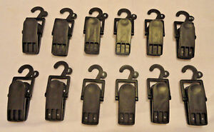 12 count Retail Store Shoe Display Plastic Hanging Clamp Clip Hooks Free Ship
