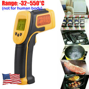 Us Ir Infrared Laser Lcd Digital Thermometer Gun Temperature Heat Thermal Sensor