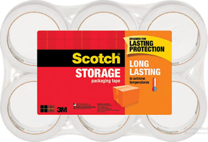 Scotch Long Lasting Storage Packaging Tape 1 88 X 54 6 Yd 6 Roll 36506 New