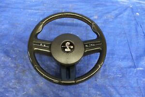 2008 Ford Mustang Shelby Gt500 5 4l Oem Leather Steering Wheel W Horn 1162