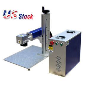 30w Split Fiber Laser Marking Engraver Machine Rotary Axis Include Usa