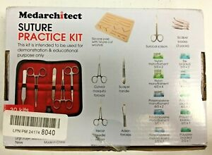 Mediarchitect Complete Suture Practice Kit For Suture Training Plus Large Pad