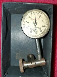 Starrett No 196 Dial Indicator Back Plunger 001 Jeweled U s a