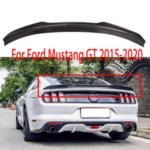 Rear Carbon Fiber Trunk Spoiler Wing For Ford Mustang Gt H Style 2015 2020