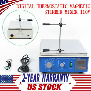 Digital Display Constant Temperature Magnetic Stirrer Mixer With Hotplate 110v