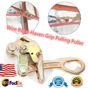 Multifunctional Zinc Cable Wire Rope Haven Grip Pulling Puller 2204 Lbs 1 Ton