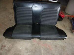 1969 Mustang Coup Rear Seat Black