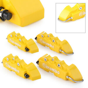 4x Front Rear Disc Brake Caliper Covers Parts Universal For 16 17 Wheel Yellow