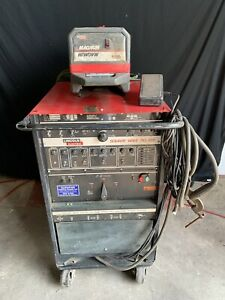 Lincoln Square Wave 355 Ac dc Tig Welder With Magnum Cooler Cart Single Phase