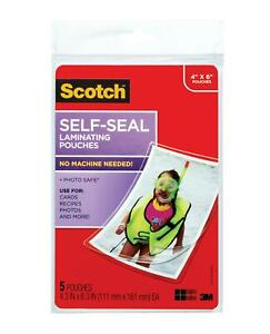 Scotch Self sealing Laminating Pouches Glossy Finish 4 3 8 X 6 3 8 Inches 5