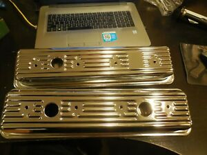 New Mw Dynachrome 1987 And Newer Chevy 5 0l 5 7l Chrome Valve Covers 20697