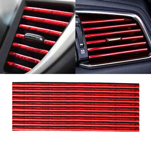 10x Air Conditioner Outlet Decoration Strip Trim Decal Car Interior Accessories