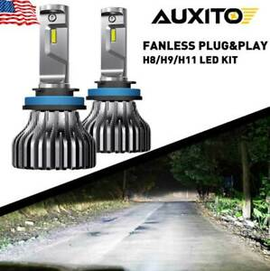 Auxito H11 Led Headlight Bulb Low Beam Fanless 80w 9000lm White Kit Ultra Bright