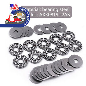 10pcs Thrust Roller Needle Bearings Plus Ultra Thin 3 Part 8x19x 2mm In Us