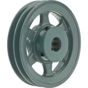 Grizzly G6277 Double V groove Pulley 6 Pitch Dia 1 Bore