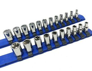 Williams Tools 22 Piece 1 4 Inch Drive Shallow 6 Point Mm Sae Socket Set
