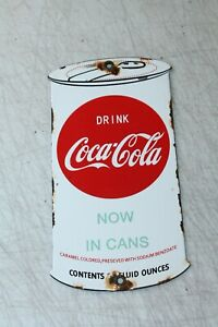 Coca Cola Push Plate Vintage Style Porcelain Signs Country Store Advertising