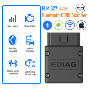 Elm327 Obd2 Scanner Engine Fault Code Reader Diagnostic Bluetooth Wifi Scan Tool