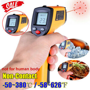 Digital No touch Lcd Ir Laser Industrial Infrared Temperature Thermometer Gun A