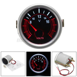2 52mm Led Digital Voltage Gauge Voltmeter Volt Meter Pointer Car Boat 12v