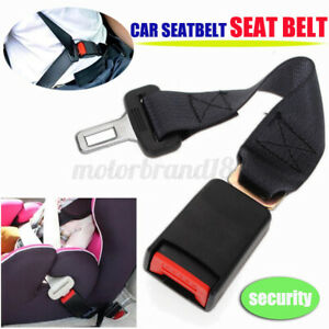 14 Black Car Seat Seatbelt Adjustable Safety Belt Extender Extension