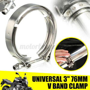 3 Stainless Steel V Band Turbo Downpipe Exhaust Clamp Vband Kit Mild