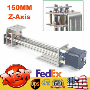 Z axis Slide 150mm Diy Milling Linear Motion Guide Rail For Cnc Engraving Machin