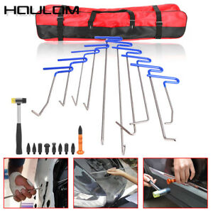 10x Paintless Dent Repair Tools Push Rods Spring Steel Car Body Hail Removal Set