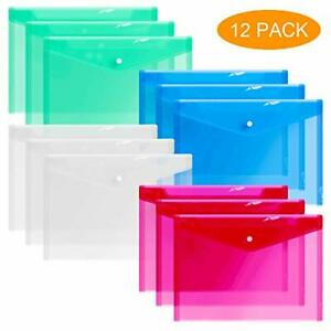 12 Plastic Envelopes Clear Document Folders Poly Envelope Folders Transparent