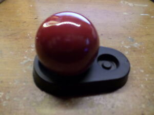 Red Shifter Knob 3 8 24 Fine Threads Vintage Hurst Shifters New
