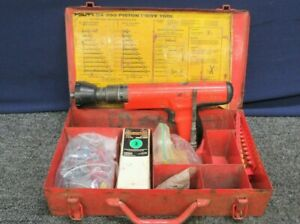 Hilti Fastening System Dx350 Powder Actuated Nail Gun Kit Tool Case Piston Drive