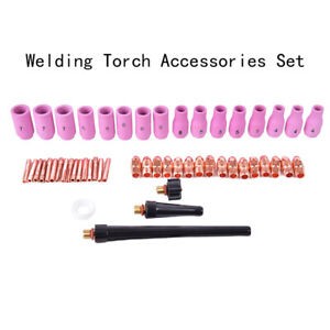 53 Pcs Portable Gas Lens Collet Body Assorted Kit For Welding Torches To G3