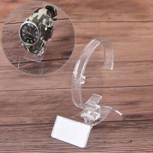 Clear Plastic Jewelry Bangle Bracelet Watch Display Stand Hold Watch Holder G3