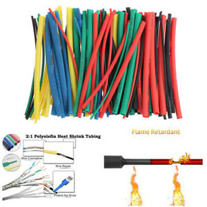 100pc set Heat Shrink Tube Insulation Coating Polyolefin Shrink Assorted Tube G3