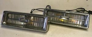 Pair Of 1968 Cadillac Deville Parking Light Turn Signal Guide 68 Sae Dp68 Tested