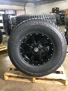 17 17x8 Black A2 Off Road Rims Wheels 35 At Tires 5x5 Jeep Gladiator Jt