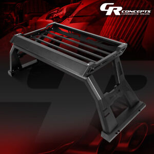 Textured Truck Bed Rack Roll Bar W Baggage Storage Box For 2009 2020 Ford F 150