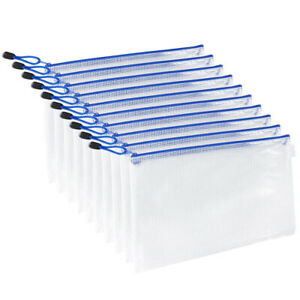 10pc A4 b4 a5 Office Document File Netting Holder Zipper Bags Envelope Bag Pouch