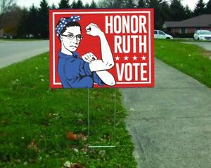 Honor Ruth Vote Double Sided Print 18 X 24 Yard Sign Rbg