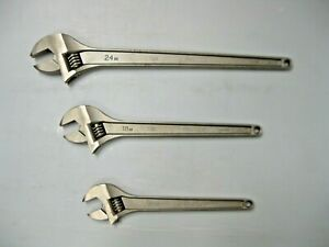 Proto Professional Adjustable Wrench Set 15 18 24 715 718 724 New