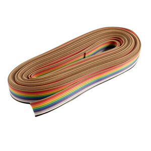 1 Roll 5m 10 Pin Cable Colorful Useful Durable Flat Ribbon For Home