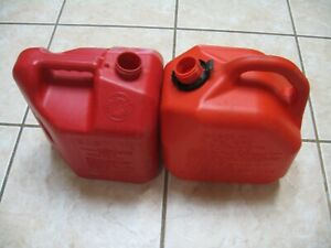 Two Gas Cans pre Ban Blitz 2 Gallon 8 Oz And Scepter 2 Gallon No Spouts