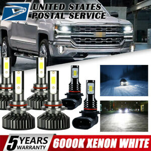 9005 9006 9145 Led Headlight Beam Bulb For Chevy 03 07 Silverado 02 05 Avalanche